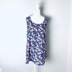 Faded glory sleeveless floral blouse plus size 3X